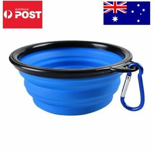 Travel Dog Bowls Food & Water Bowl Dish Feeder Foldable Collapsible