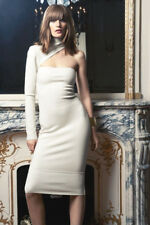 3a04a999f ALEXANDRE VAUTHIER Ivory Wool One Sleeve Dress 40 8