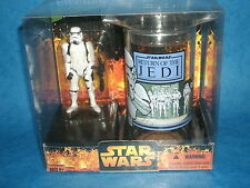 STAR WARS CHARACTER CUP & FIGURE SETS: STORMTROOPER w/Return Of The Jedi Tumbler
