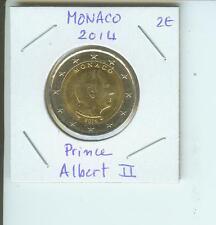 2014 2€ MONACO 2 Euro  2-€ Bimetallic Coin Prince Albert II !!!