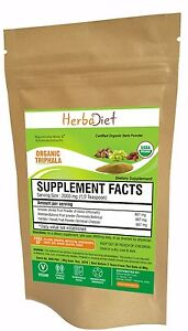 Organic Triphala Powder Churna 100% Pure Natural Premium Quality Aids Digestion