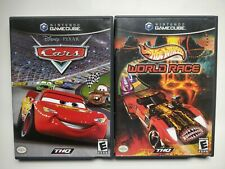 2x GameCube Hot Wheels World Race & Disney Pixar Cars Games Lot
