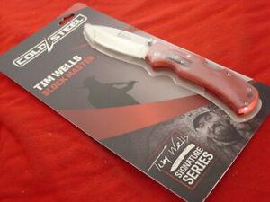 "Cold Steel Knives Tim Wells 5"" Signature Series Side Lock Blade Knife MINT"