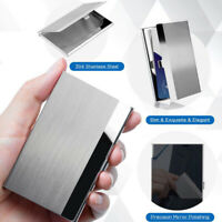 Pocket Stainless Steel & Metal Business Card Holder Case ID Credit Wallet USA