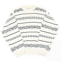 Vintage SEARS ROEBUCK Cosby Jumper   Sweater Knit 90s Hip Hop Patterned Top