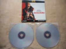 "JAMES BOND ""LICENCE TO KILL"" LASER DISC GATEFOLD MINT DELUXE LETTER BOX EDITION"