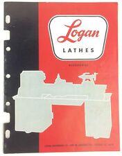 Logan Lathes Accessories Catalog Chicago Illinois 1967 & Prices List