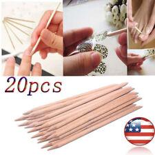 20Pcs Nail Art Orange Wood Stick Cuticle Pusher Remover Pedicure Manicure Tool