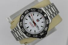 Tag Heuer WAH1111.BA0850 Formula 1 Watch Mens WHITE SS Mint Crystal Professional