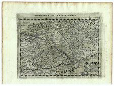 Carte ancienne MAGINI map 1597 HUNGARIA TRANSYLVANIA Hongrie Transylvanie 157