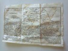 1818 Carta Geogrfica Itinerario Italiano: Viaggio da Antibes a Genova e a Torino