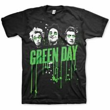 Green Day Drips Mens Black T Shirt: Medium