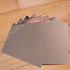"""SILVER FOIL MIRROR CARD BOARD A4 275GSM x 10 SHEETS """"SPECIAL PRICE"""" - NEW"""