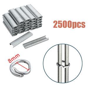 2500X Galvanised Steel Clips Hog rings For C7 Auto Feed Fencing Hog Ring Gun AUS