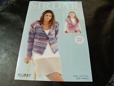 Sirdar Flurry Chunky Pattern 7960 V Neck Jacket Easy Knit