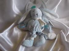 Doudou d'activités lapin bleu , Baby Nat, (Babynat)