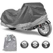 Motorcycle Cover Silver Outdoor Bike Cover Rain UV Dust Protection XXL Upto 104