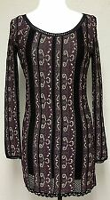NEW Free People Striped Net Bodycon Stretch Sweater Dress Metallic Purple Size S
