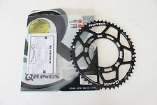 New Rotor Q-Ring Outer Oval Compact Chainring 52T 110 BCD Road Bike 5-Bolt Black