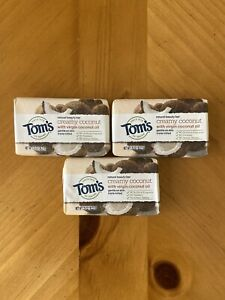 Toms of Maine Natural Beauty Bar Soap Creamy Coconut 1.35oz TravelSize Lot Of 3