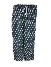 DISNEY PARKS Men's Small Blue Mickey Mouse Print Cotton Drawstring Pajama Pants