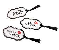 Honeymoon Gifts Lips Mustache Luggage Tags Wedding Gifts Mr Mrs and More Mrs