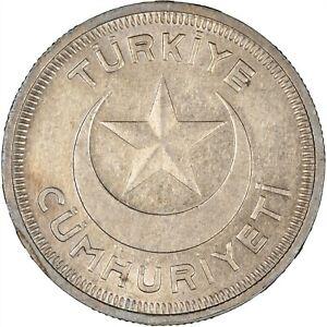 Turkey 1938 10 Kurus LUSTROUS EF