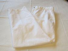 Mens Lands' End Pant pants slacks linen cotton 34 white **spots**EUC@