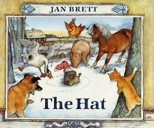 The Hat by Jan Brett (2016, Hardcover Board Book)- BRAND NEW