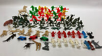 Lot of 84pcs Vintage Plastic Cowboys & Indians, Army Men, Animals, Astronauts