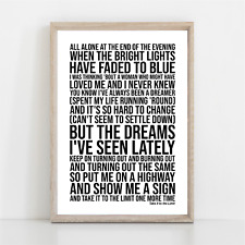 More details for eagles take it to the limit song lyrics poster print wall art