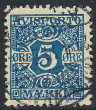 Denmark Scott P2/AFA AP2, 5ø blue Newspapers, F-VF used, light cancel