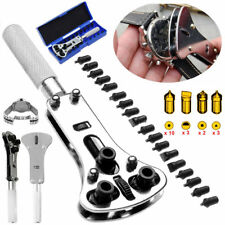 Watch Back Case Battery Cover Opener Repair Wrench Screw Remover Tool Set Kit
