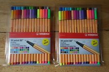 Stabilo 30 Point 88 Fineliner Markers Pens - 2 sets