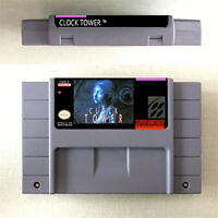 New Clock Tower Game Card Console For Nintendo SNES US Version 16 Bit English