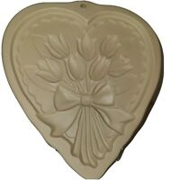 Brown Bag Cookie Art 1989 Cookie Mold Hill Design Heart Flowers Tulips Baking