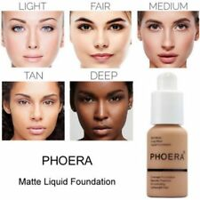 Coverage Concealer PHOERA Liquid Foundation Cosmetic Longlasting Moisturizing
