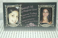 Sweet 16 A Magical Year Silver Frame~New Frame In White Gift Box~Free Us Ship~