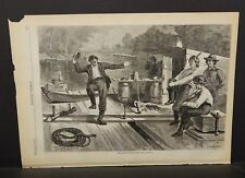 Harper's Weekly 1 Pg Life on a Lumber Raft Engraving 1873 B15#72