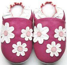 daisy fuchsia 4-5 Toddler Minishoezoo soft sole leather shoes indoor slippers