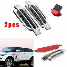 2 Side Body Marker Fender Air wing Silver Vent Trim Cover Chrome For All The Car