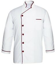 Leorenzo Modeling CY-08 Mens Black Chef Jacket Multi Colours in PN and Cuff Chef Coat