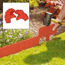 Parkland Terracotta Cobbled Stone Effect Garden Lawn Edging Plant Border 20x 30028P