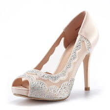 fc18c3ee426 DREAM PAIRS Women Divine-01 Peep Toe Dress Wedding High Heels Pump Shoes  Sandals