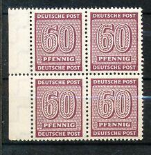 West-Sachsen 137 X w postfris blok van vier