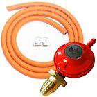 Complete BBQ Cooker Kit Propane Regulator Gas Hose Clips Heater Stove Set