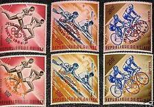 GUINEA 1964 239-41 A-B C58-60 red orange ovp Olympics Tokyo Bicycle Canoe MNH