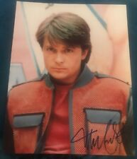 MICHAEL J FOX SIGNED 8X10 PHOTO MARTY MCFLY FUTURE W/COA+PROOF RARE WOW