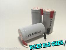 3 PILES ACCUS Sub C Nimh RECHARGEABLE 1.2V 6000mAH à LANGUETTE PATTE BATTERIES