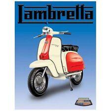 Lambretta Scooter, Italian Classic, Mod, Small Metal/Tin Sign